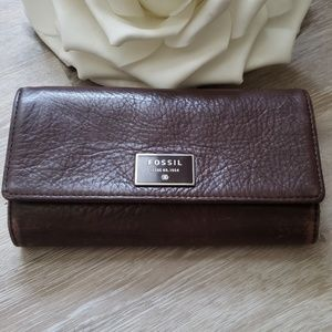 Fossil Soft Pebbled Leather Wallet ~ Clean!